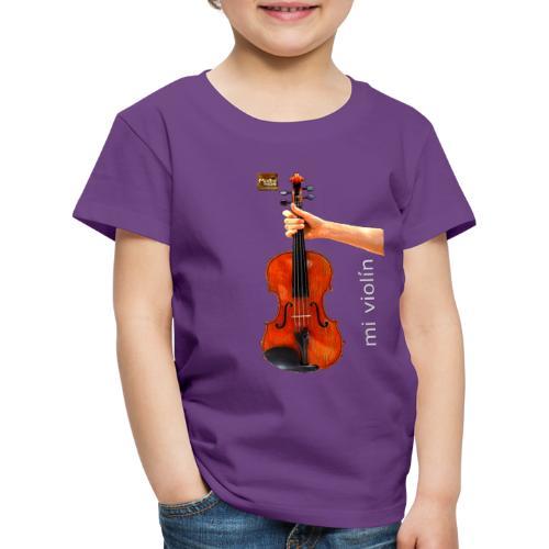 MI violín - Camiseta premium niño