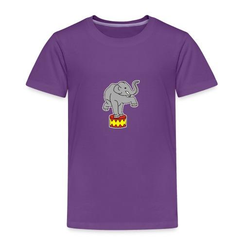 Zoo Zirkus Elefanten Circus Elephants Retro Comic - Kinder Premium T-Shirt