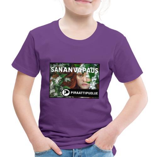 Sananvapaus - Lasten premium t-paita