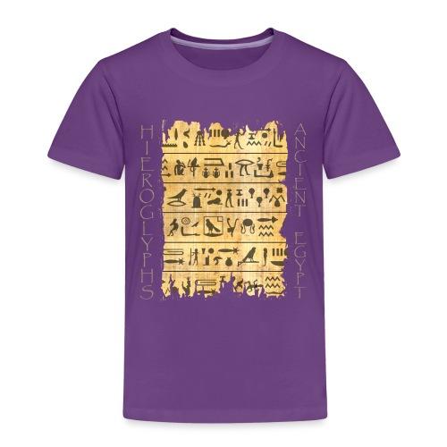 Ausgerissener Papyri mit Hieroglyphen - Kinder Premium T-Shirt