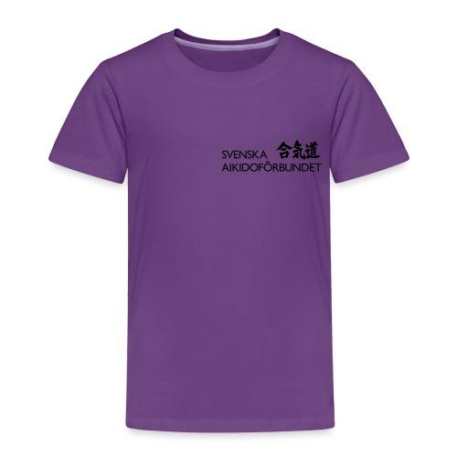 Svenska Aikidoförbundet logo - Premium-T-shirt barn