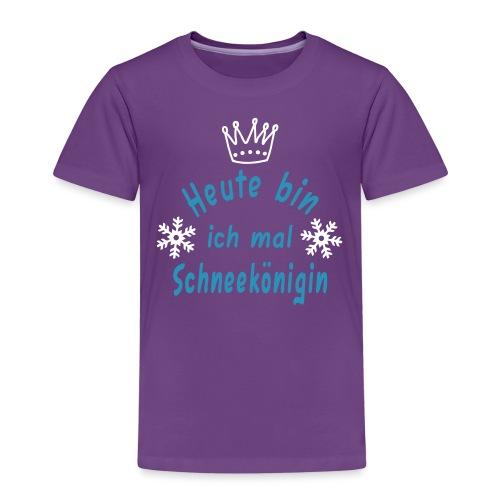 Heute Schneekönigin, Schnee, Winter - Kinder Premium T-Shirt