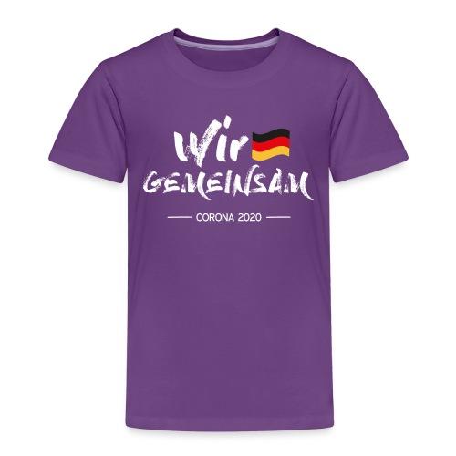 Corona - Wir gemeinsam gegen Covid-19! - Kinder Premium T-Shirt