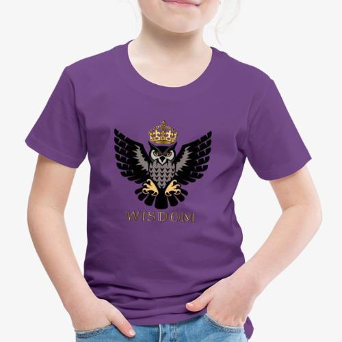 Royal Wisdom — La Chouette à Couronne - T-shirt Premium Enfant