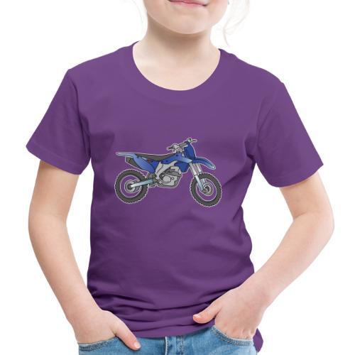 Blaue Motorcross Maschine - Kinder Premium T-Shirt
