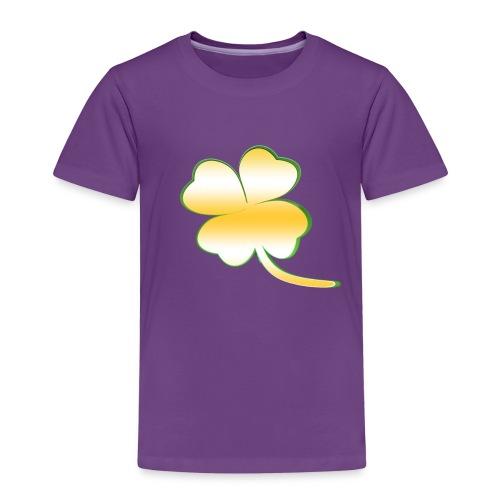 Kleeblatt Glück gold - Kinder Premium T-Shirt