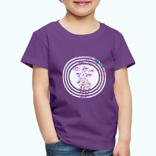 Japan vintage flowers watercolor - Kids' Premium T-Shirt