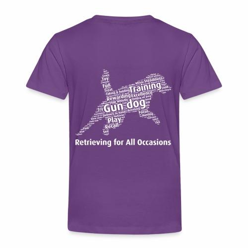Retrieving for All Occasions wordcloud vitt - Premium-T-shirt barn