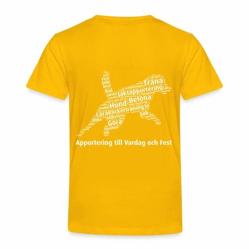 Apportering till vardag och fest wordcloud vitt - Premium-T-shirt barn