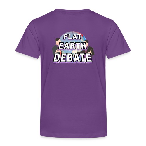Flat Earth Debate Solid - Kids' Premium T-Shirt