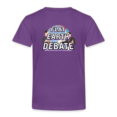 Flat Earth Debate Solid - Kids' Premium T-Shirt