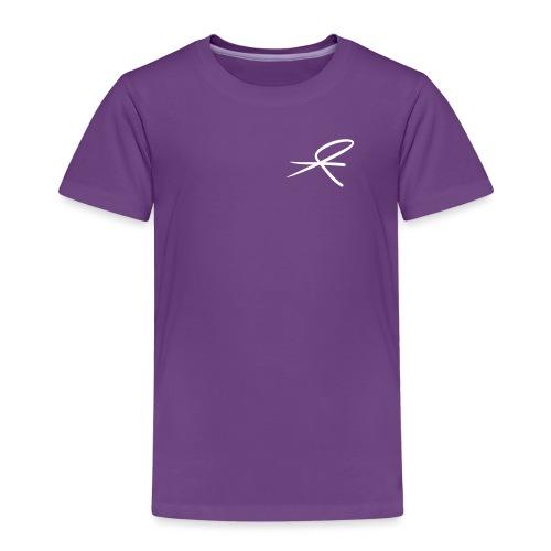 MJJK_logo_hvit_vektor - Premium T-skjorte for barn