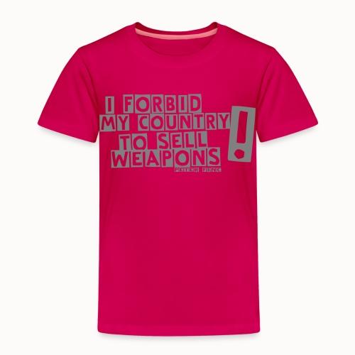 I Forbid Weapons grey - Kinder Premium T-Shirt