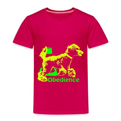 Obedience Kleinpudel umrundet Pylo - Kinder Premium T-Shirt