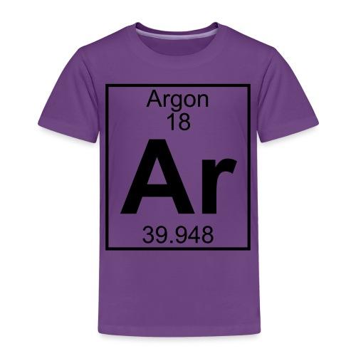 Argon (Ar) (element 18) - Kids' Premium T-Shirt