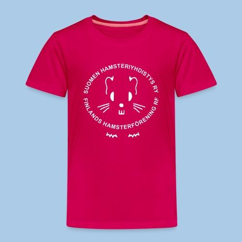 Valkoinen logo - Lasten premium t-paita