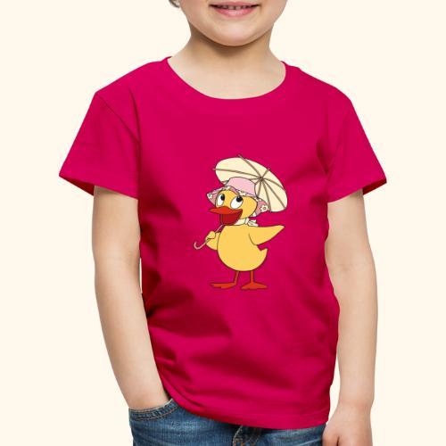 Schnatterinchen mit Schirm - Kinder Premium T-Shirt
