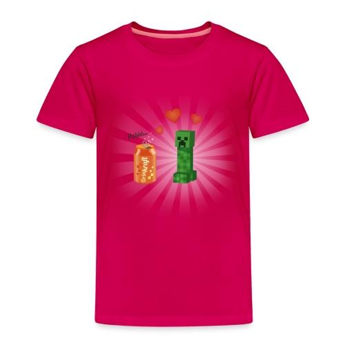 Minecraft / Creeper amoureux d'une canette - T-shirt Premium Enfant