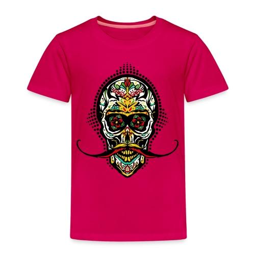 tete de mort mexicaine crane hipster skull moustac - T-shirt Premium Enfant