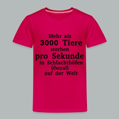 3000 Tiere die Sekunde - Kinder Premium T-Shirt