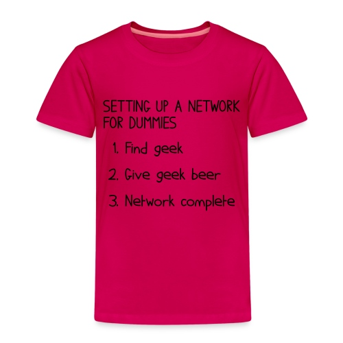 Setting up a network for dummies - Kids' Premium T-Shirt