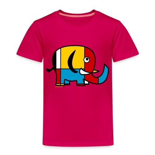 Mondrian Elephant - Kids' Premium T-Shirt
