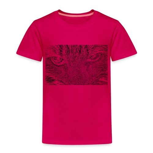 Kat kop (zwart) - Kinderen Premium T-shirt
