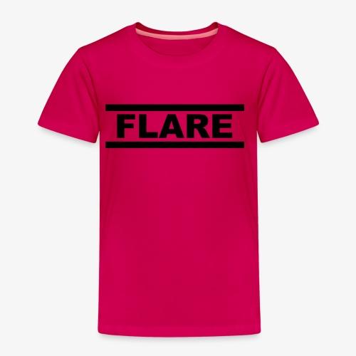 White T-Shirt - Black logo - FLARE - Kinderen Premium T-shirt