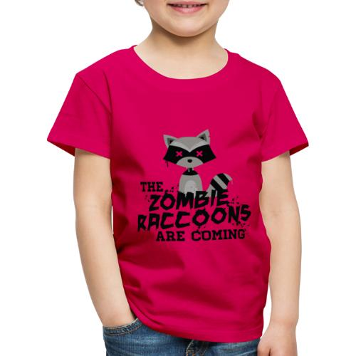 Cute and Funny Zombie Raccoon for halloween - Kids' Premium T-Shirt
