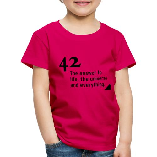 42 - the answer to life, the universe & everything - Kinder Premium T-Shirt