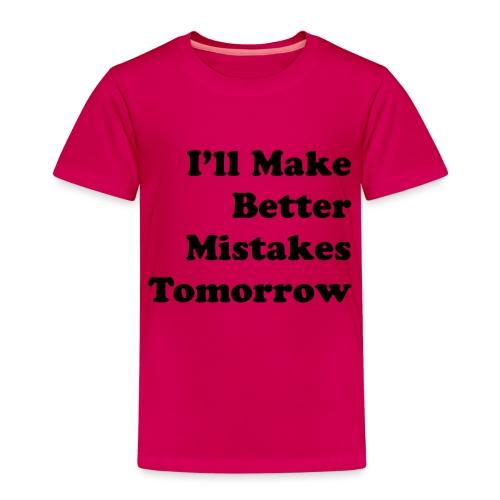 Better Mistakes - Kinderen Premium T-shirt