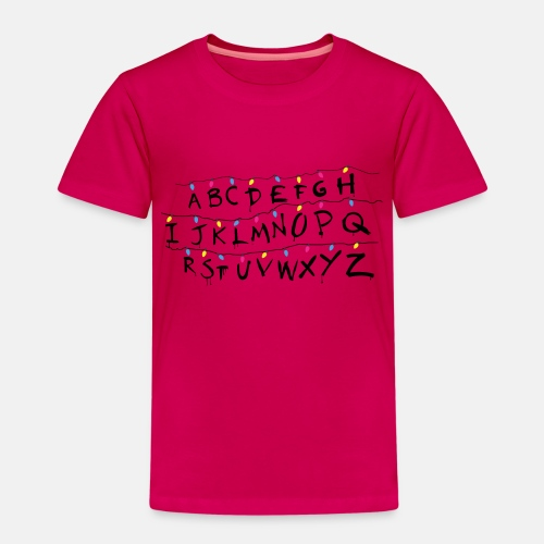 Stranger Things Alphabet Women's T-Shirts - Kids' Premium T-Shirt