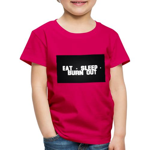 Eat Sleep Burn out - Premium-T-shirt barn