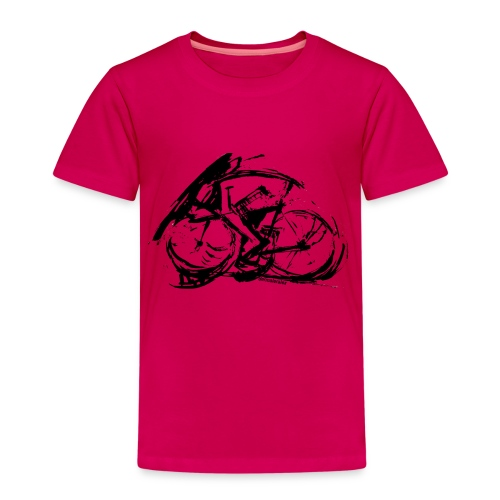 futuristischer radfahrer - Kinder Premium T-Shirt