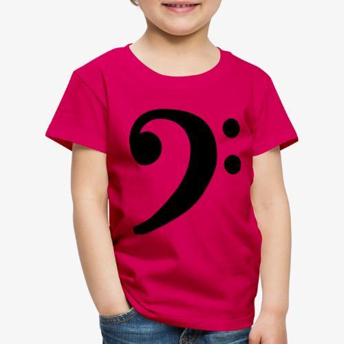 Notenschlüssel (Bass) Bassschlüssel - Kinder Premium T-Shirt