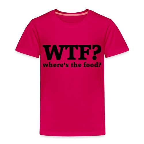 WTF - Where's the food? - Kinderen Premium T-shirt