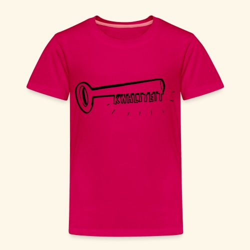 Kwaliteit sleutel transparant - Kinderen Premium T-shirt