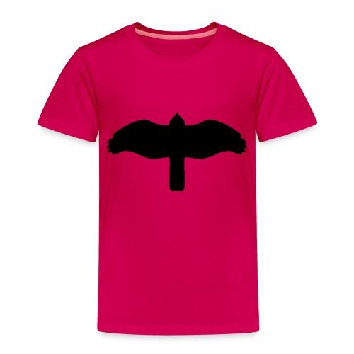 Sperber von unten schwarz - Kinder Premium T-Shirt