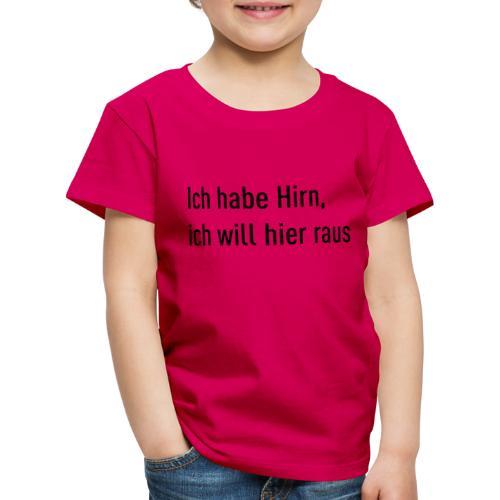 Flachsinn Tasse - Kinder Premium T-Shirt