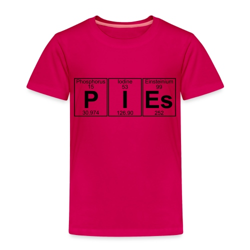 P-I-Es (pies) - Full - Kids' Premium T-Shirt