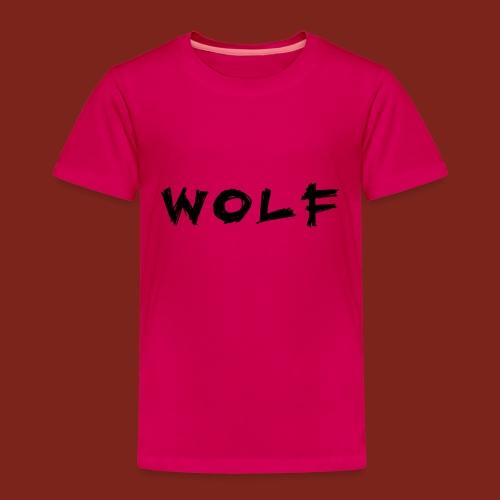 Wolf Font png - Kinderen Premium T-shirt