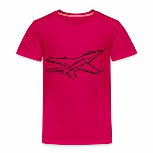 f16 falcon right bw - Kinderen Premium T-shirt