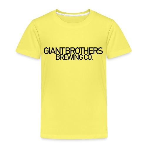 Giant Brothers Brewing co SVART - Premium-T-shirt barn