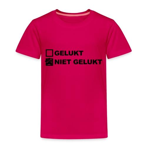 nietgelukt-gelukt - Kinderen Premium T-shirt