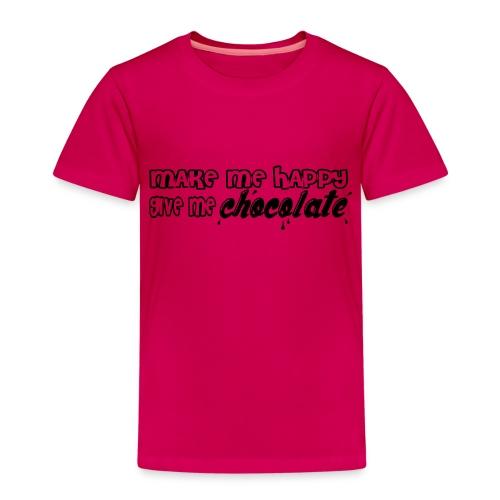 make me happy give me chocolate T-Shirts - Camiseta premium niño