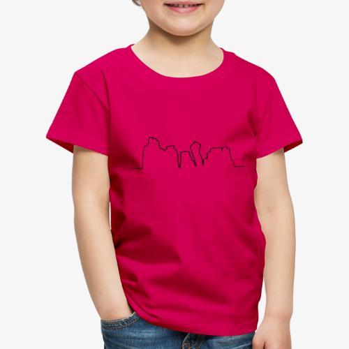 Kontur der Externsteine - Kinder Premium T-Shirt