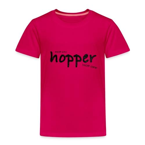 MuchoHop Hop On/Off (black) - Kids' Premium T-Shirt