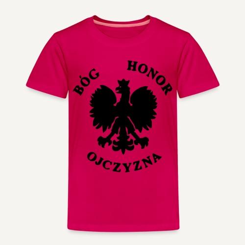 Bóg, Honor, Ojczyzna - Koszulka dziecięca Premium