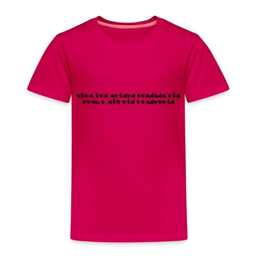 zieh ich meinen schwanz ein - Kinder Premium T-Shirt