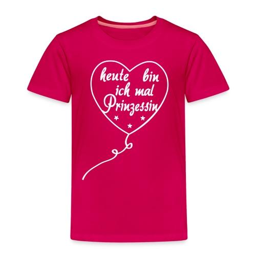 Heute mal Prinzessin,Luftballon, Geburtstag - Kinder Premium T-Shirt